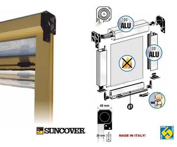 store moustiquaire enroulable 80x170 cm en vente la. Black Bedroom Furniture Sets. Home Design Ideas